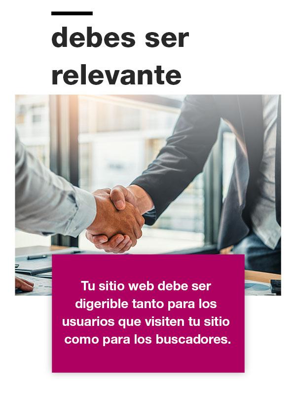 Tu sitio web debe ser relevante