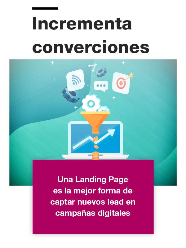 Incrementa conversiones con una landing page